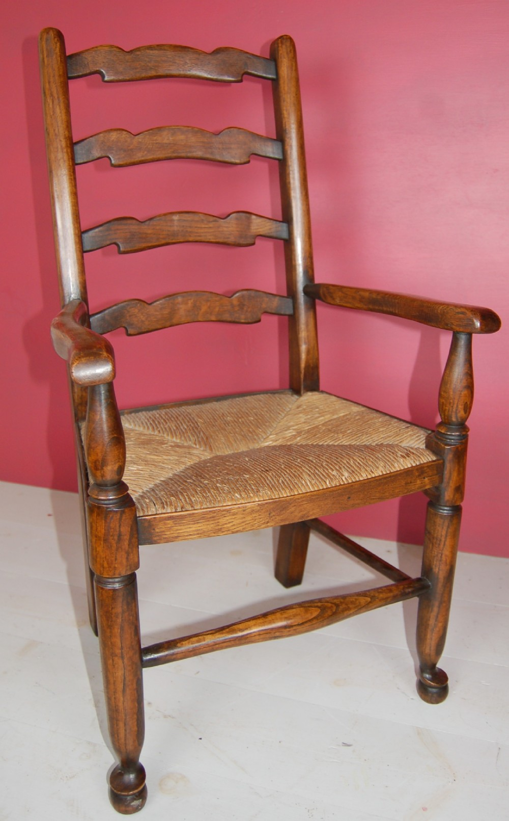 child ladderback rush seated ash chair 19th century